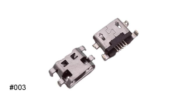 micro usb connector charging port 4 leg