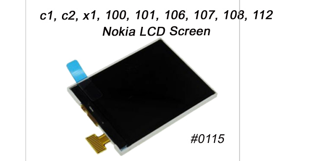 Nokia Display C1 C2 X1 100 101 106 107 108 112